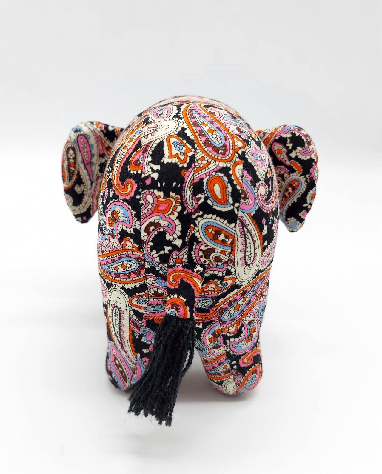Elephant Batik Fabric Handmade Medium