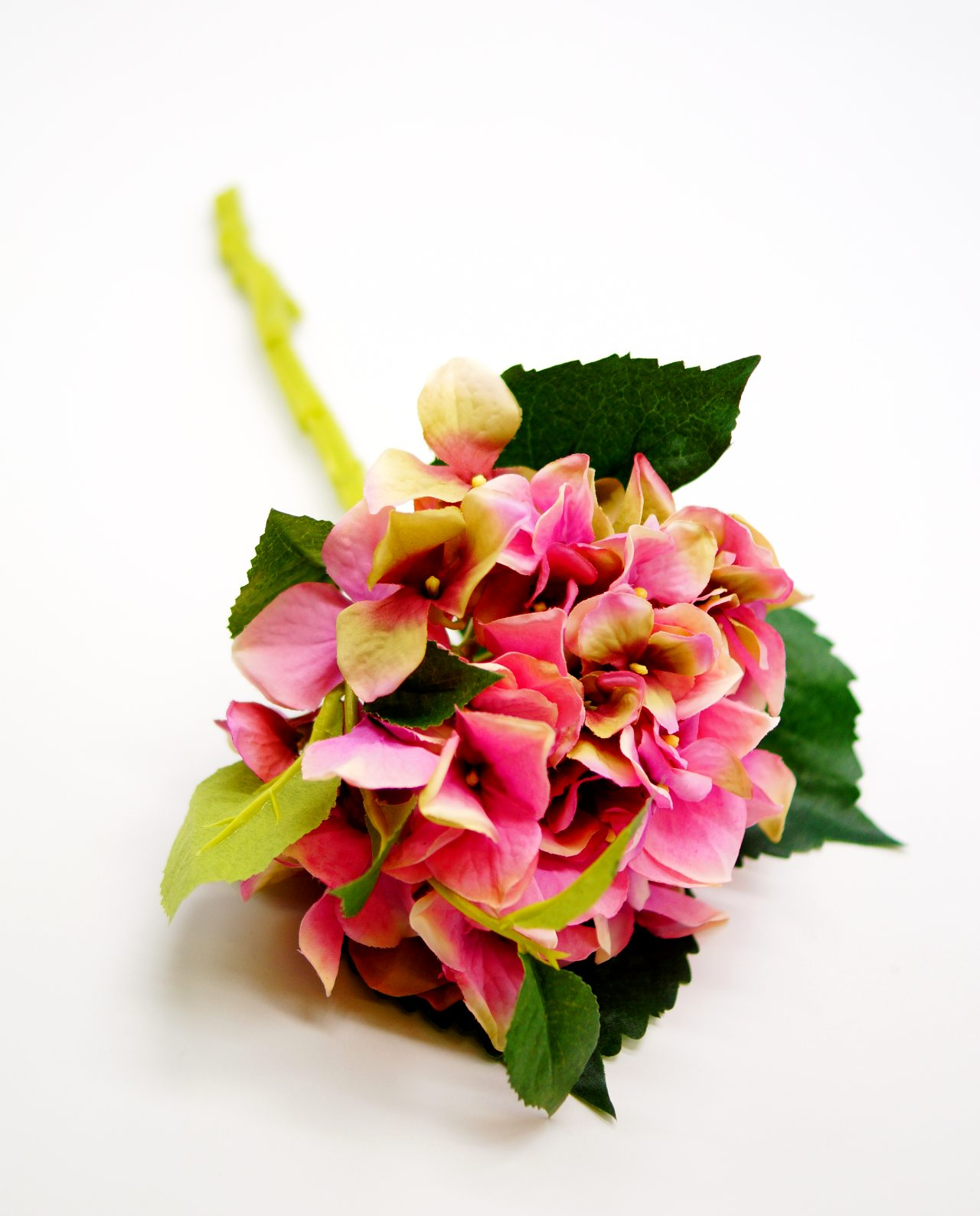 Hydrangea Fabric Pink height 38 cm