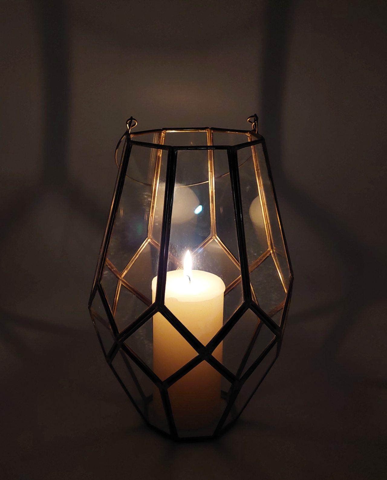"Lantern ""Morocco"" Copper Height 29 cm"