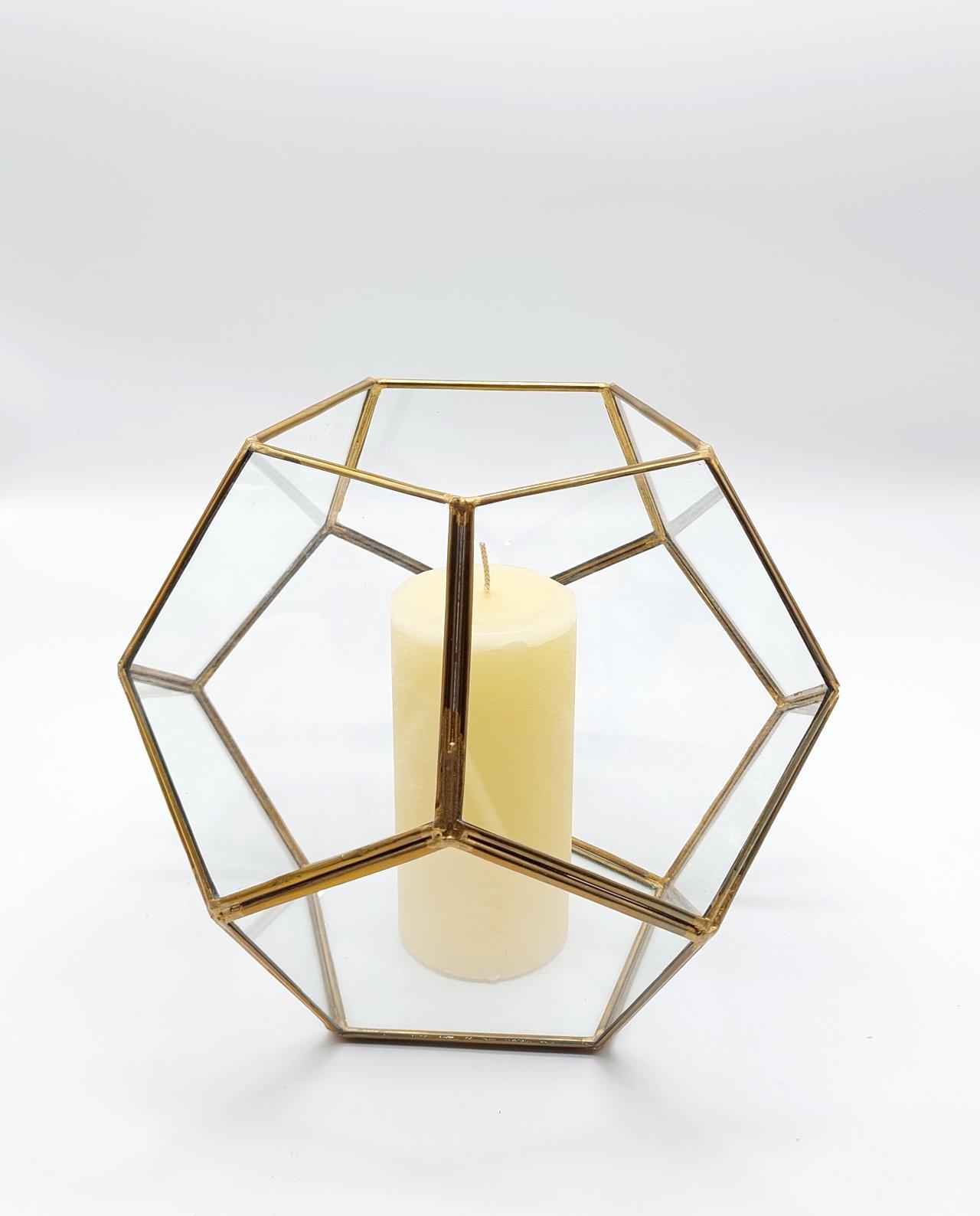 "Lantern ""Disco"" Copper Gold Diameter 24 cm"
