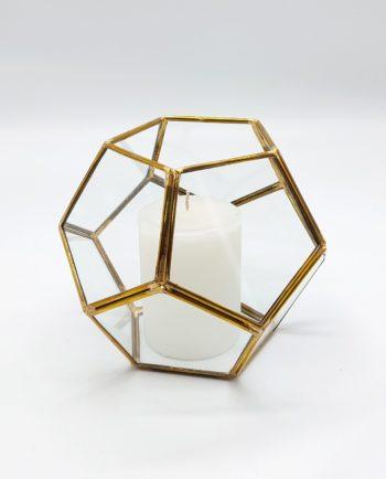 "Lantern ""Disco"" Copper Gold Diameter 15 cm"