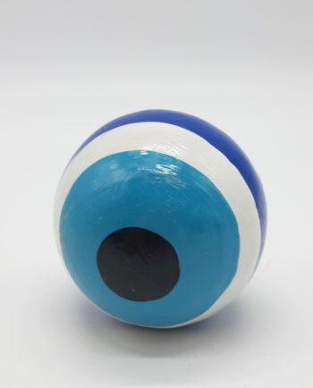 Sphere evil eye wooden diameter 8 cm color blue