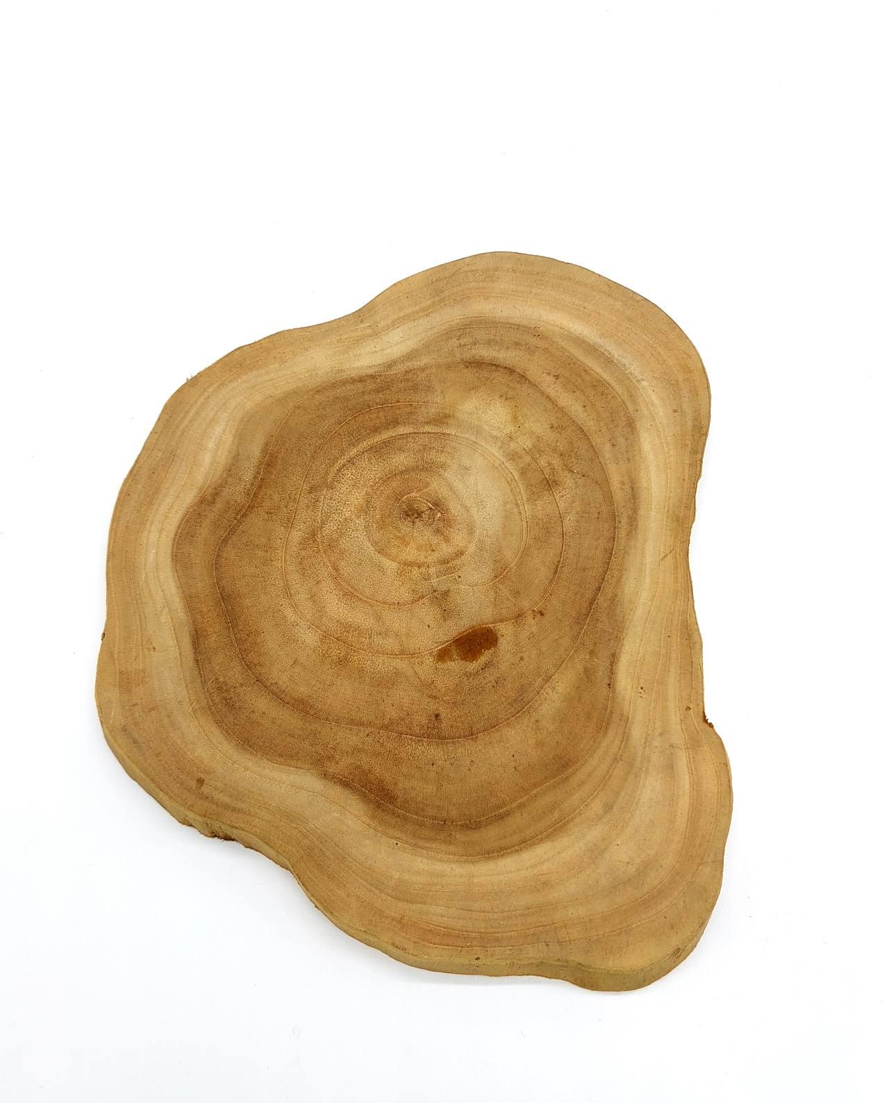 Board Teak Wood Board Diameter 25 cm