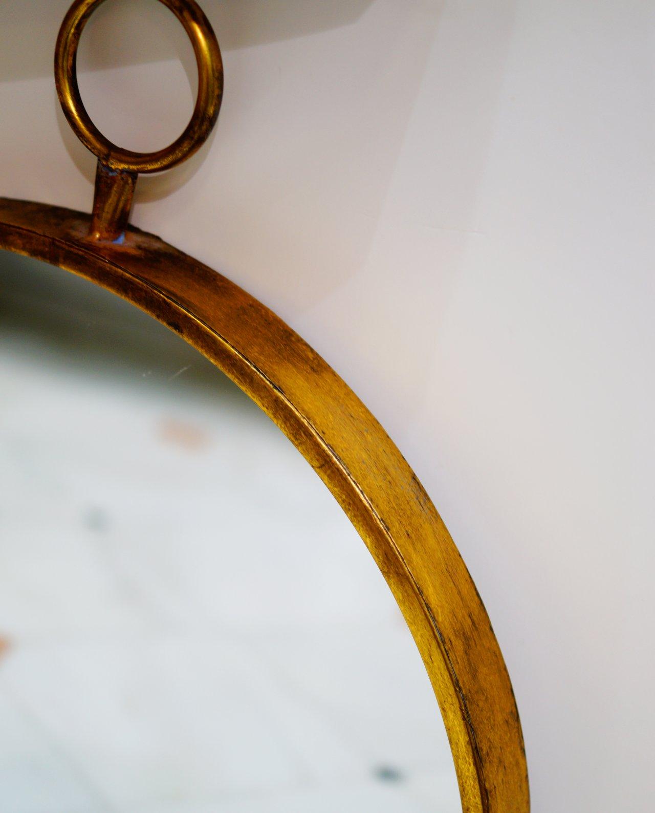 """Mirror Gold Metal """"Ring"""" Diameter 55 cm"""