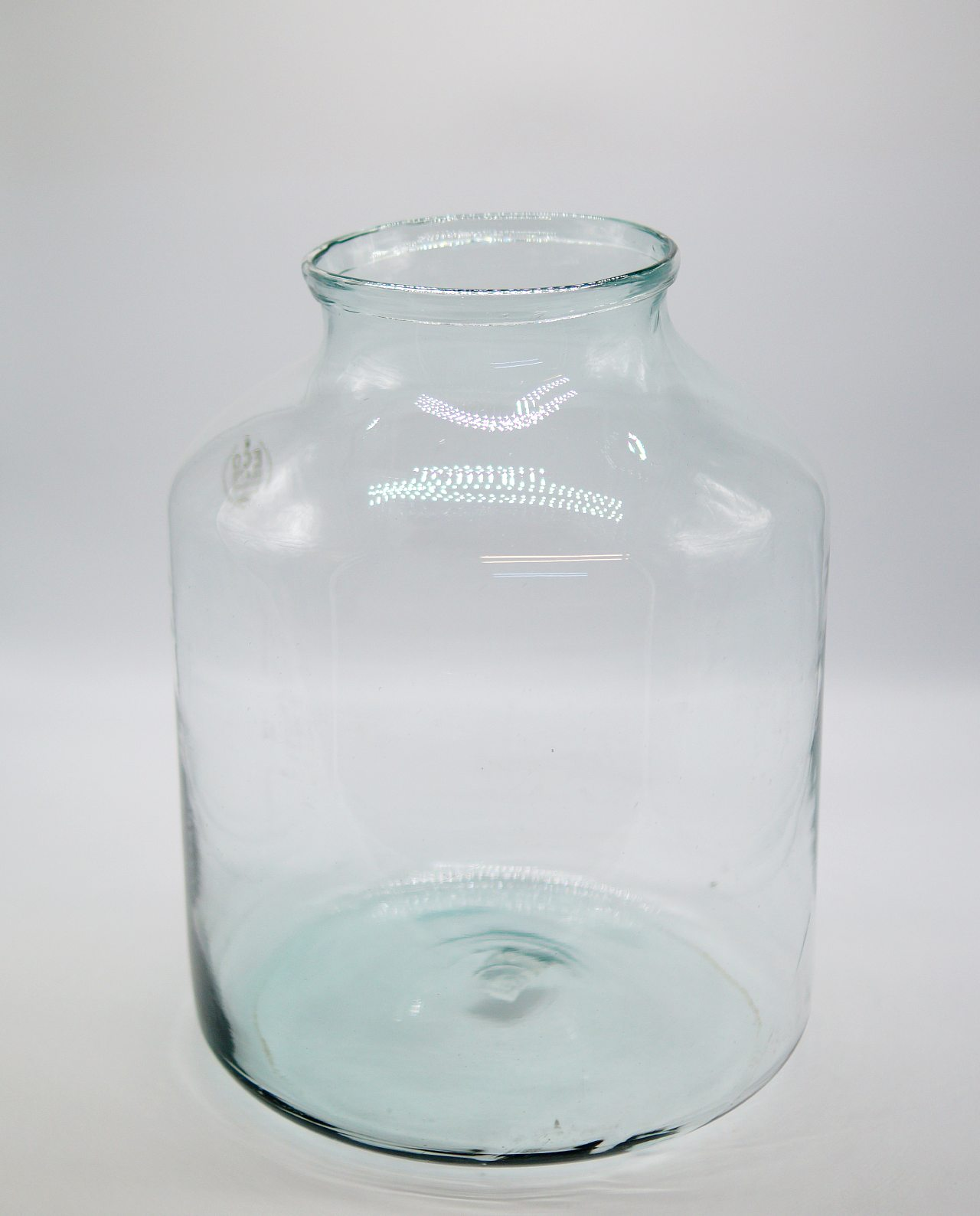 Glass vase made from recycled glass, eco friendly height 42 cm