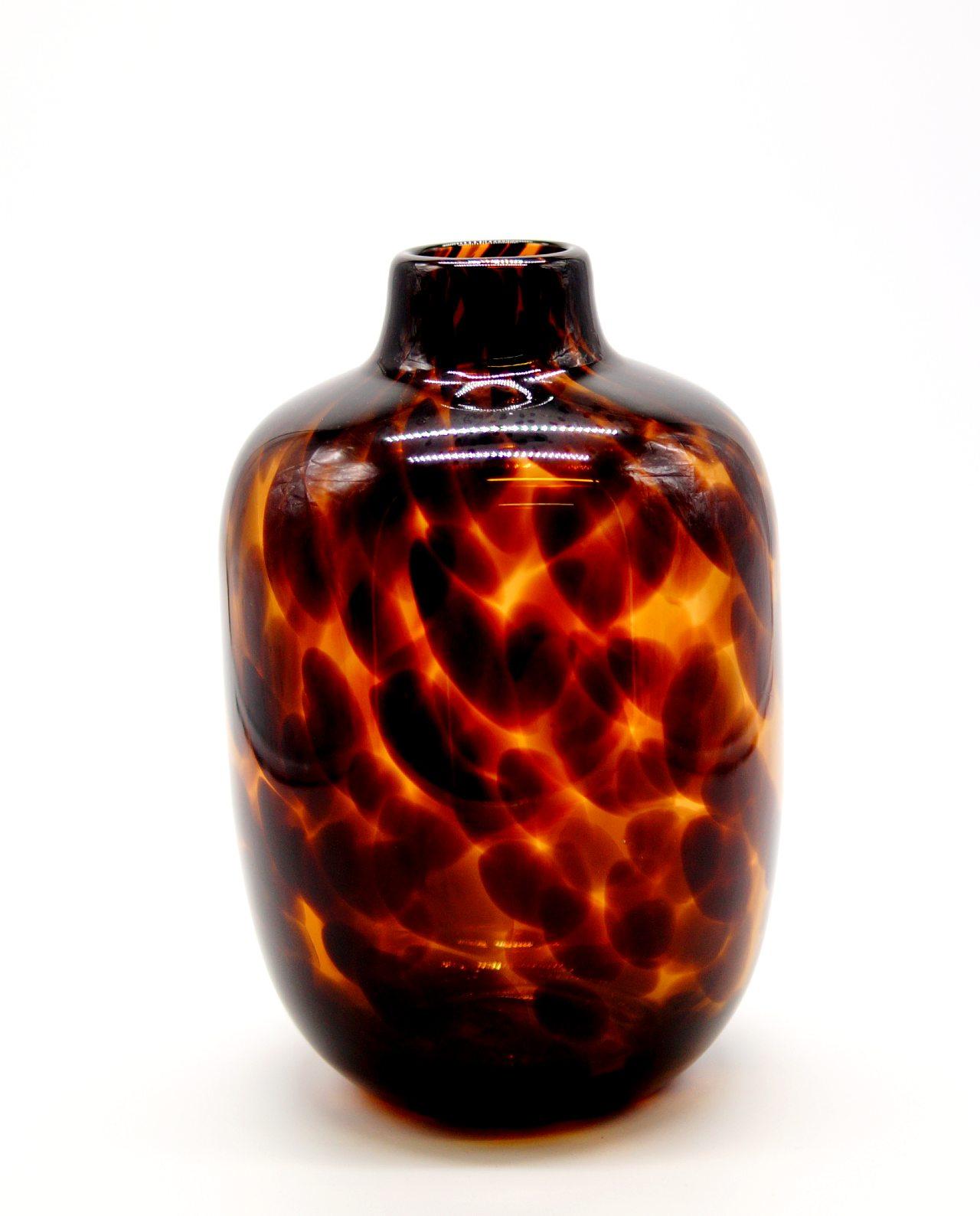 "Vase Glass ""Leopard"" Height 25 cm"