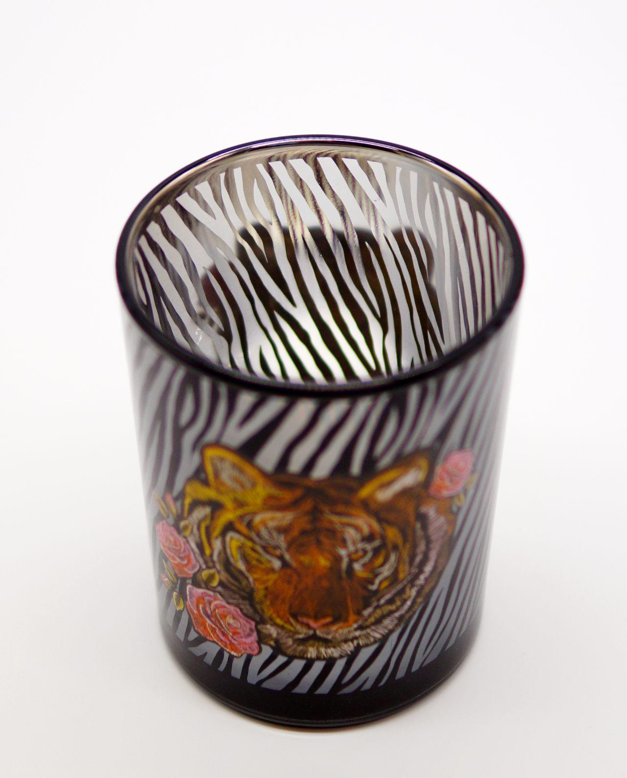 Tealight Glass With Tiger Head
