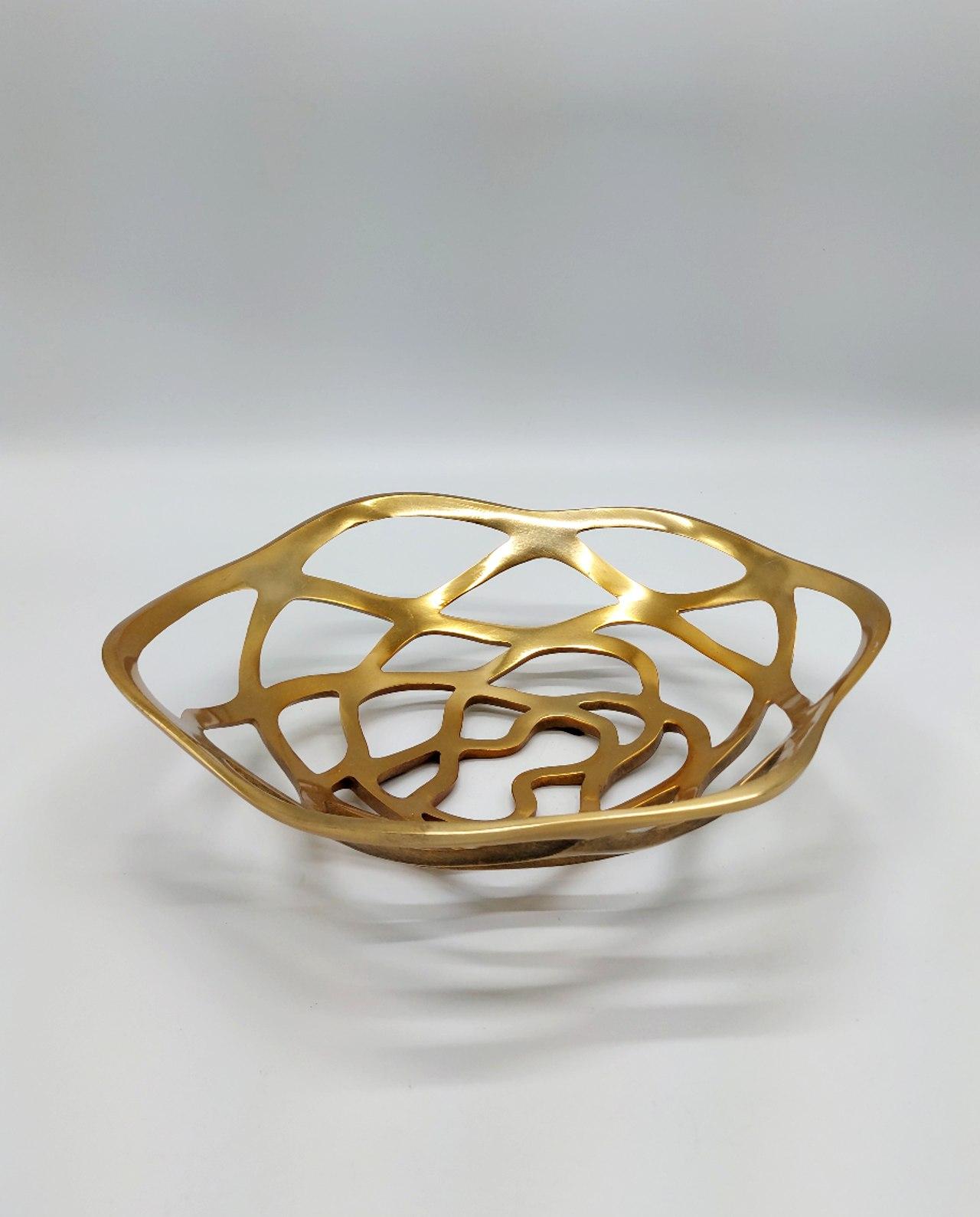 Platter Aluminum Gold Round 34 cm
