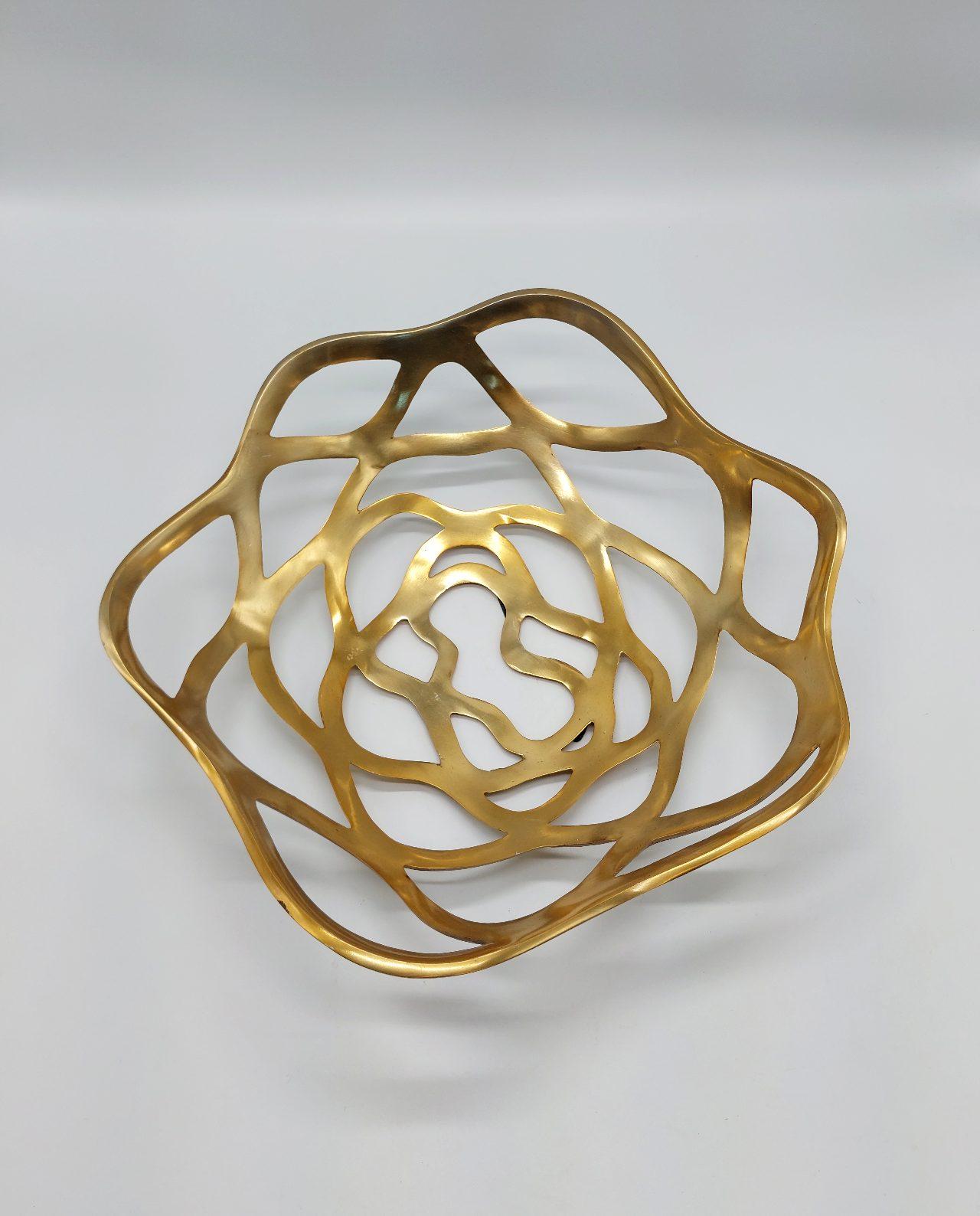 Platter Aluminum Gold Round 40 cm