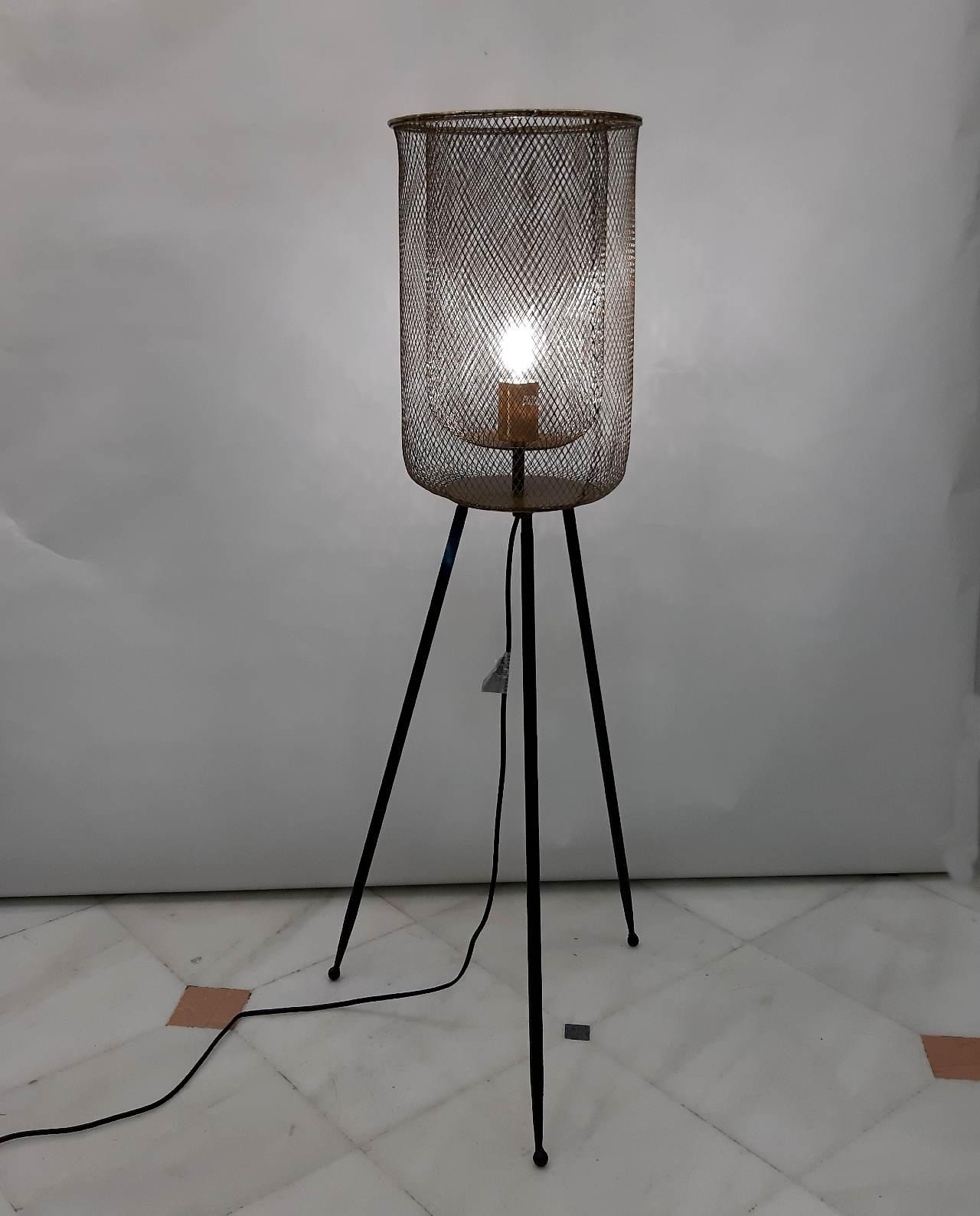 Φωτιστικό Σιδερένιο Μαύρο Χρυσό Ύψους 102 cm