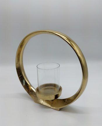 Lantern Ring Gold Aluminum Height 28 cm