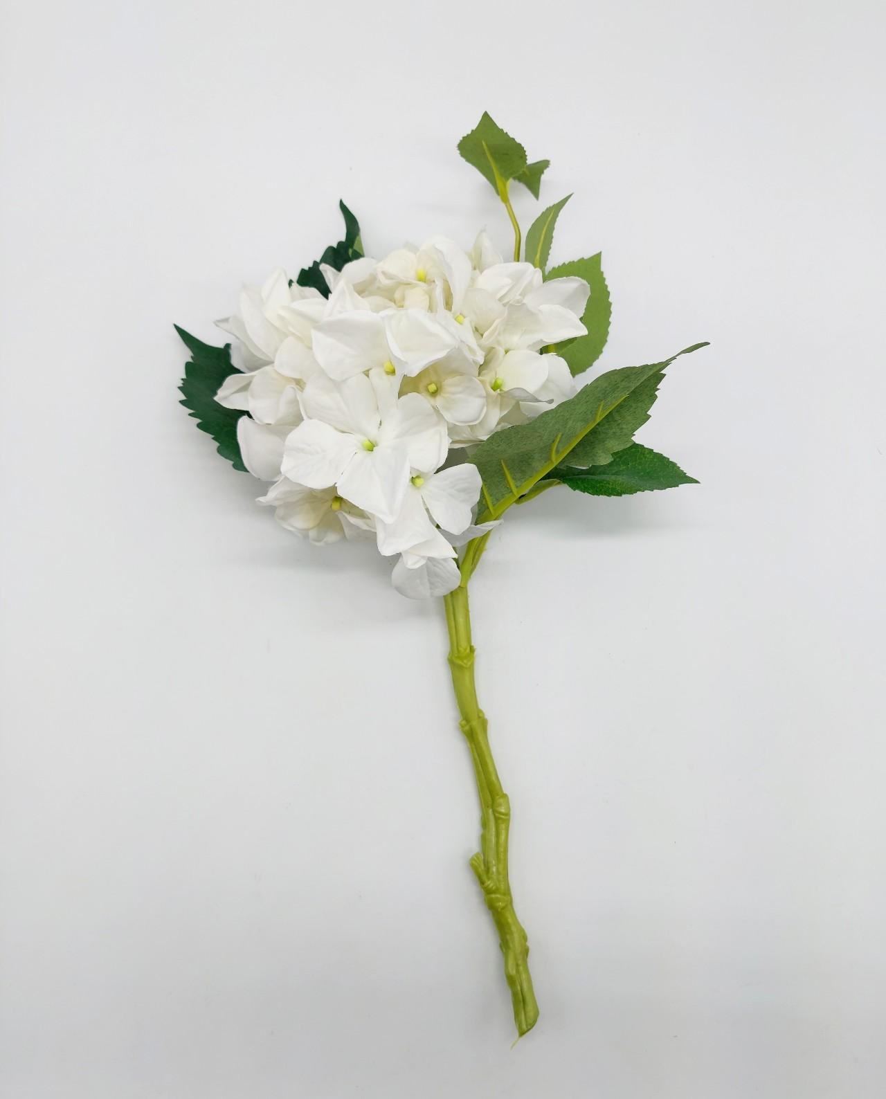 Hydrangea Fabric Height 38 cm white