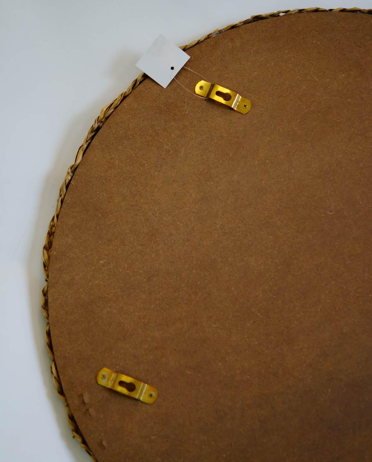 Mirror Round Seagrass Diameter 55 cm hanging system