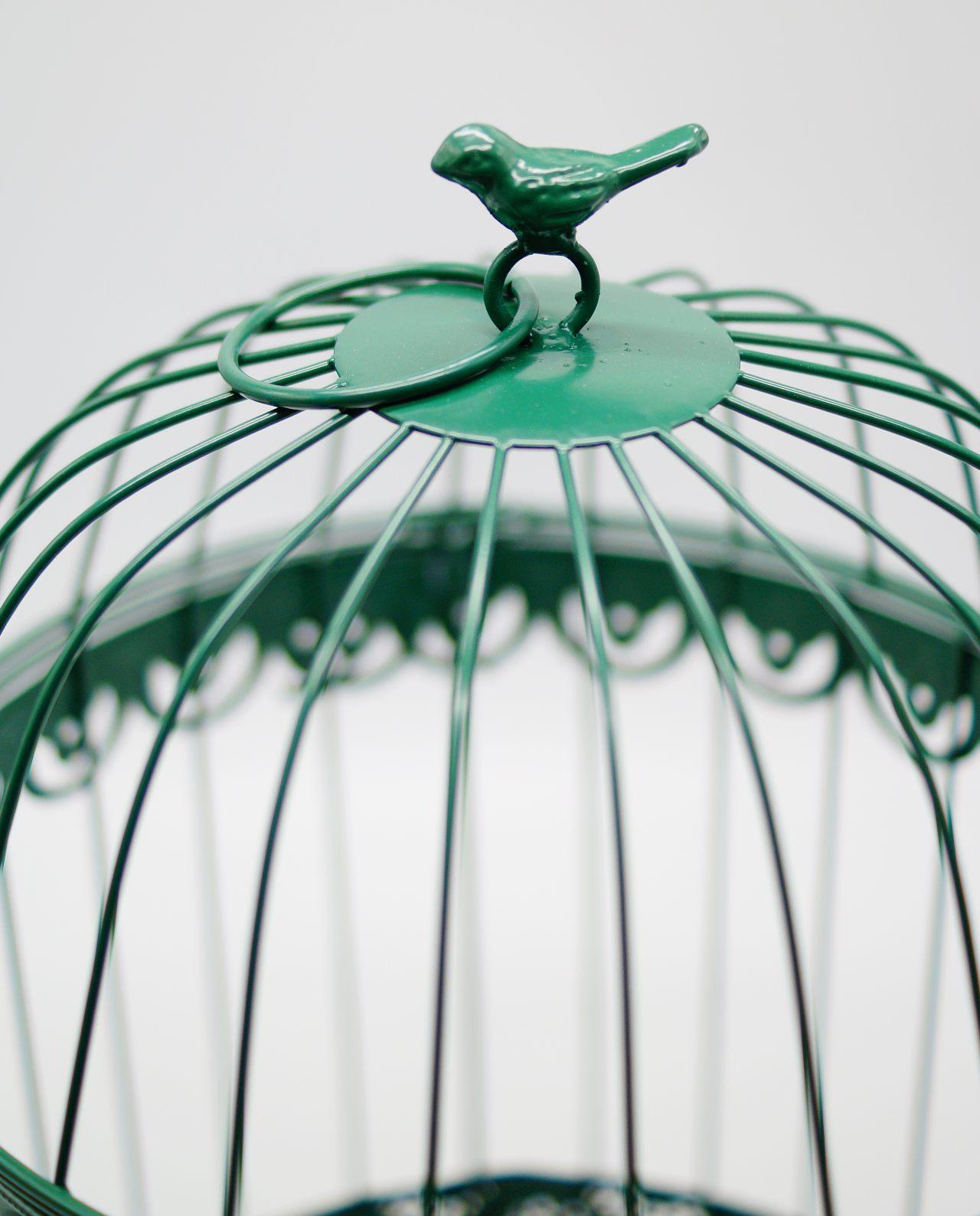 Birdcage Metallic Green Height 40 cm