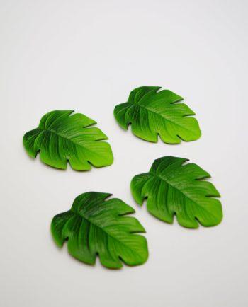 Coaster Palm Leaf Artificial Set 4 Pieces