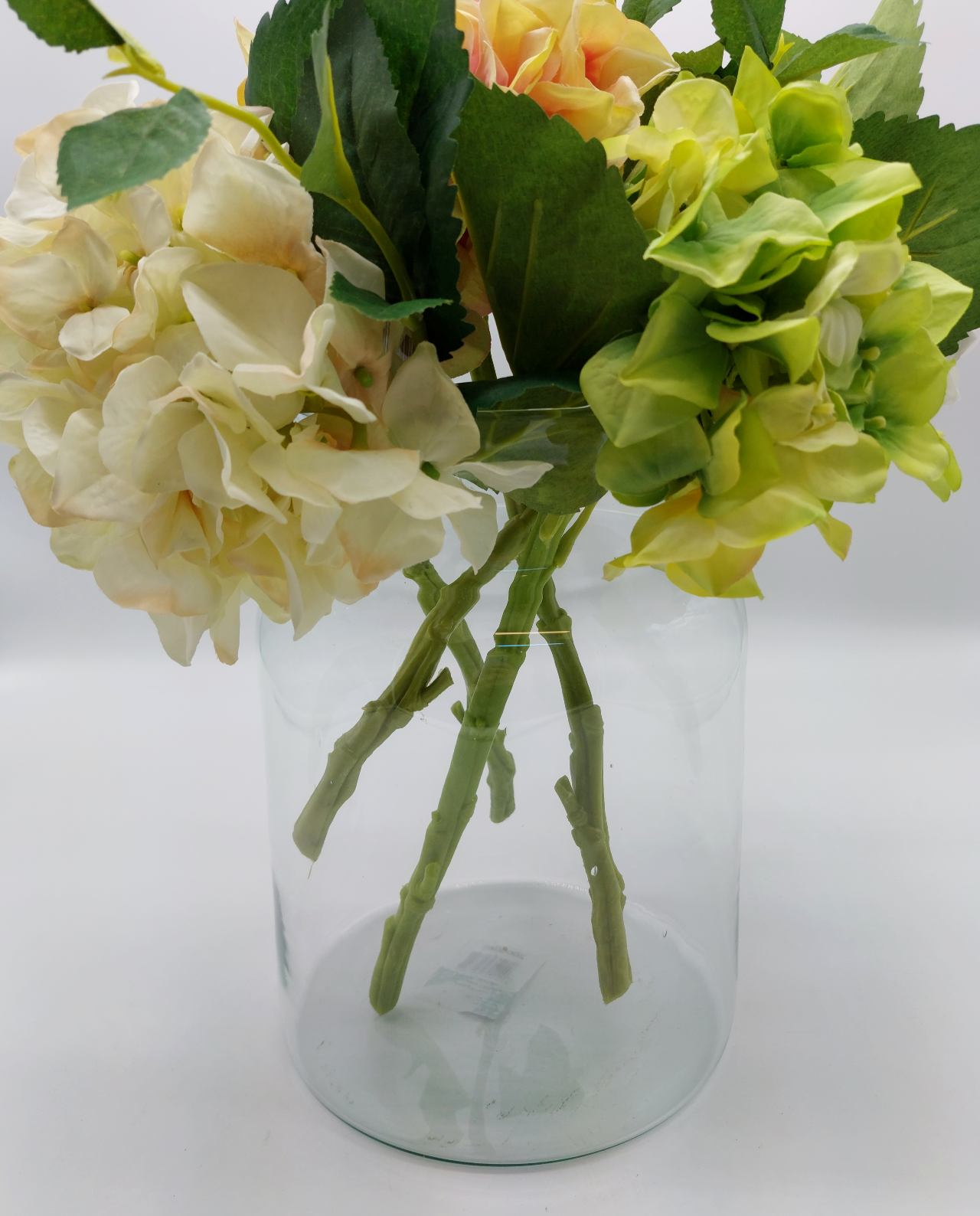 Glass vase made from recycled glass, eco friendly height 26 cm