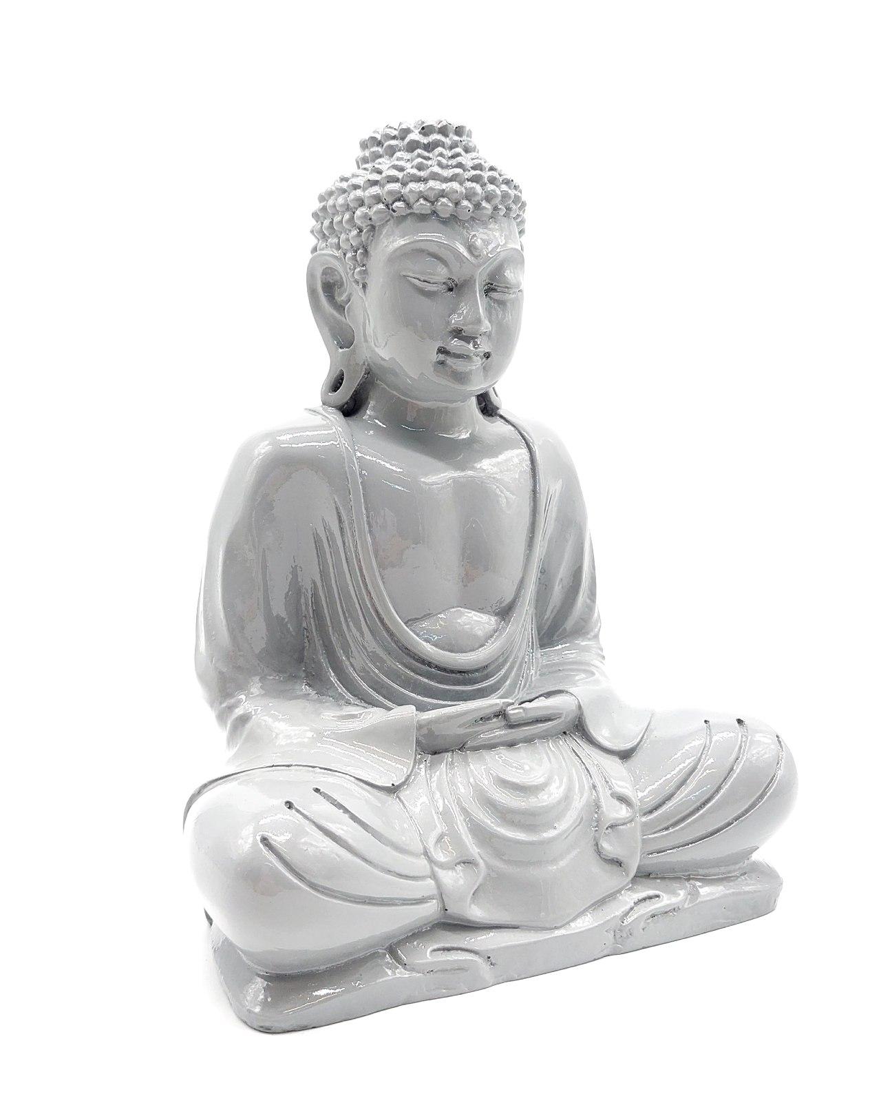 Buddha Resin height 20cm grey