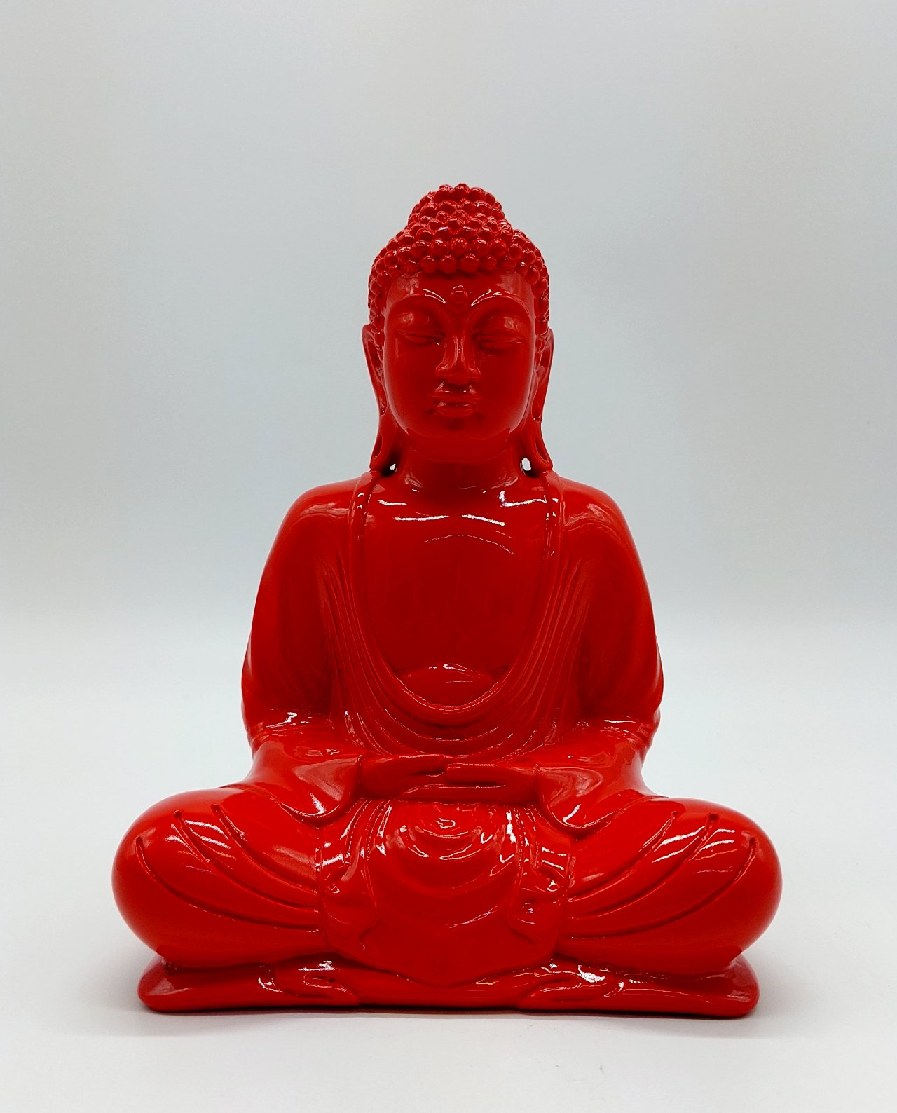 Buddha Resin height 20cm red