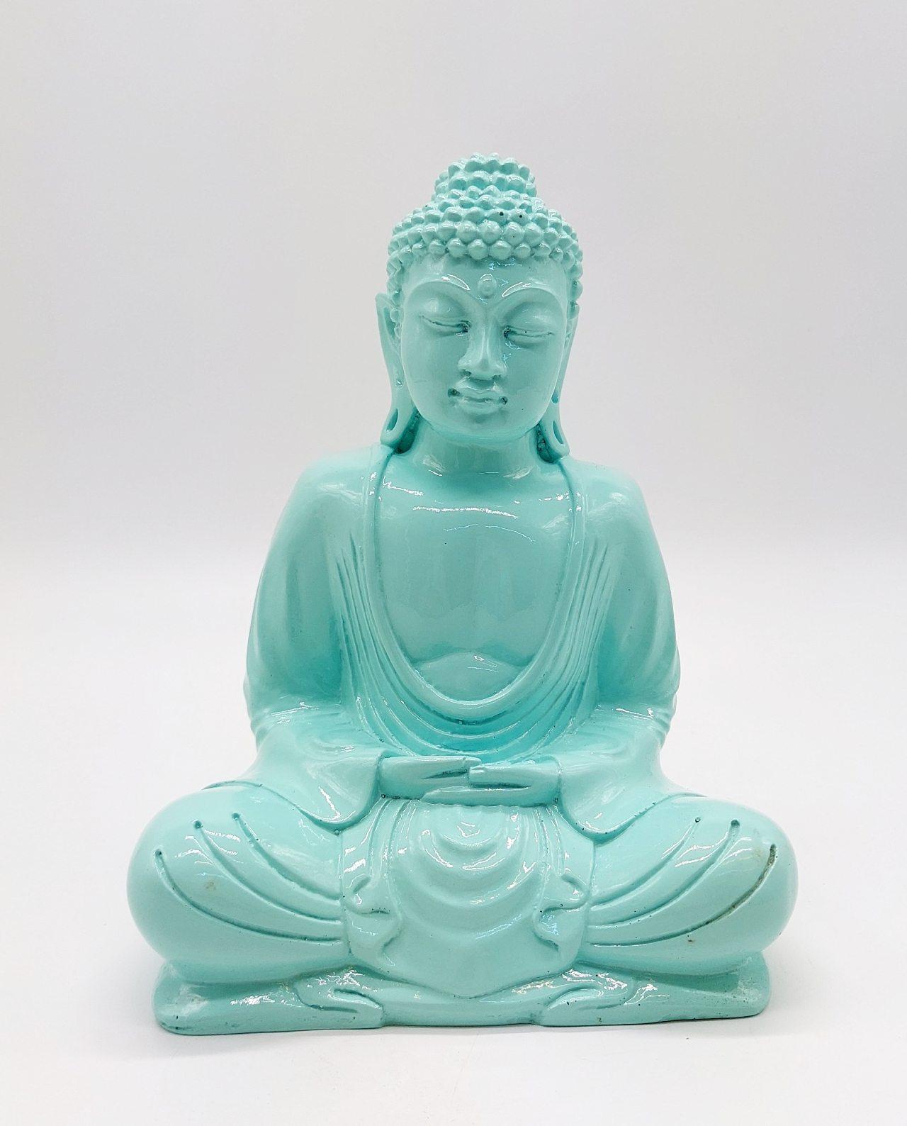 Buddha Resin height 20cm turquoise
