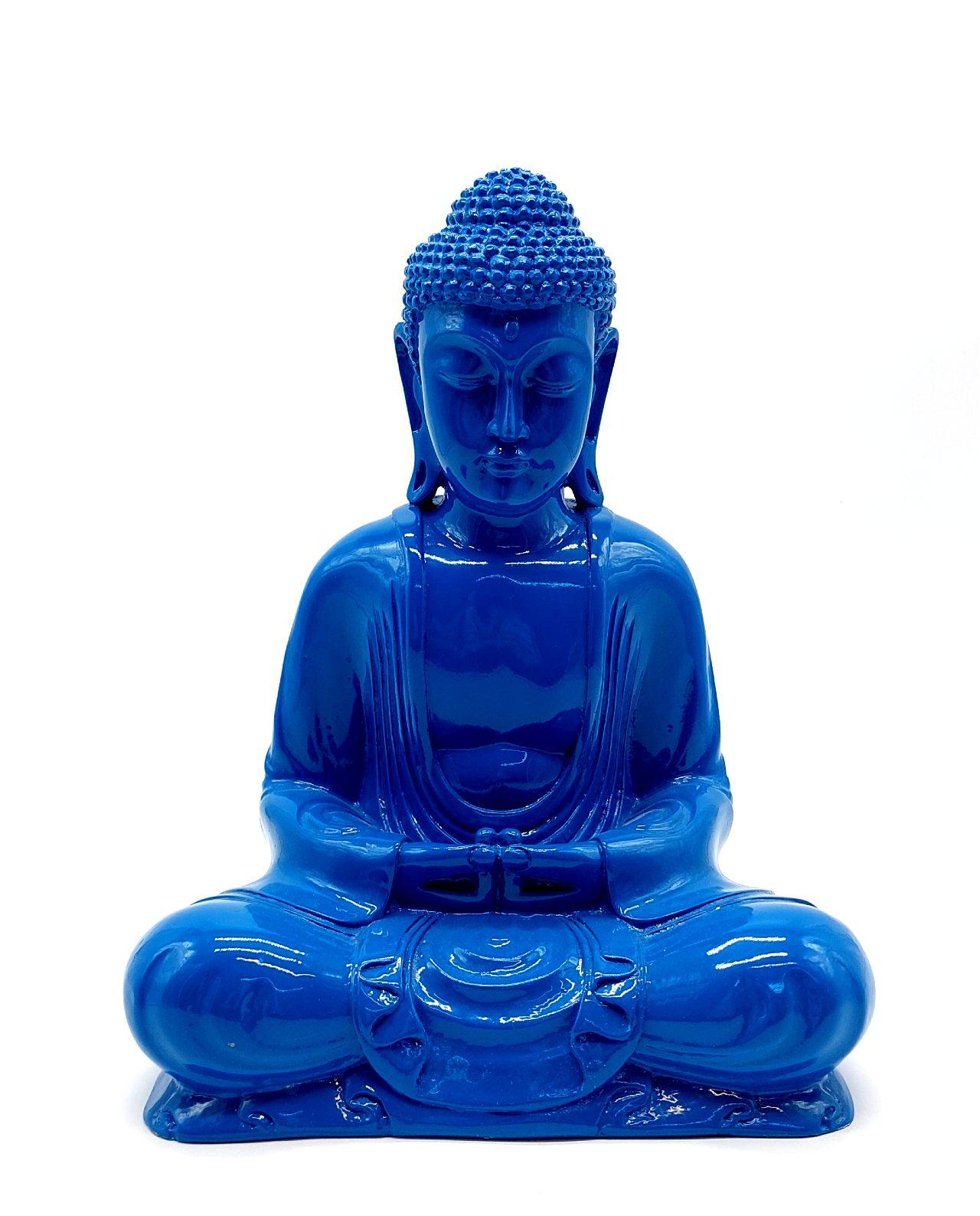 Buddha Resin height 30cm blue
