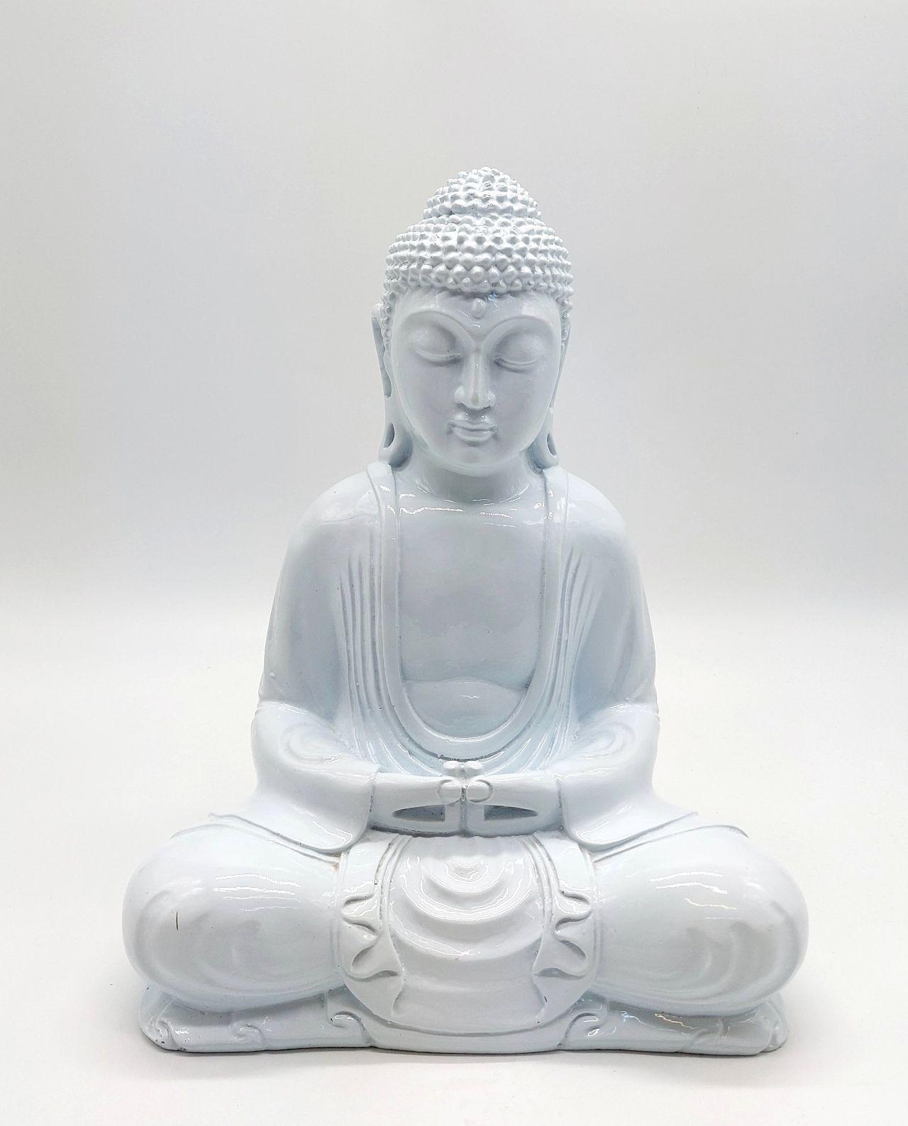 Buddha Resin height 30cm white