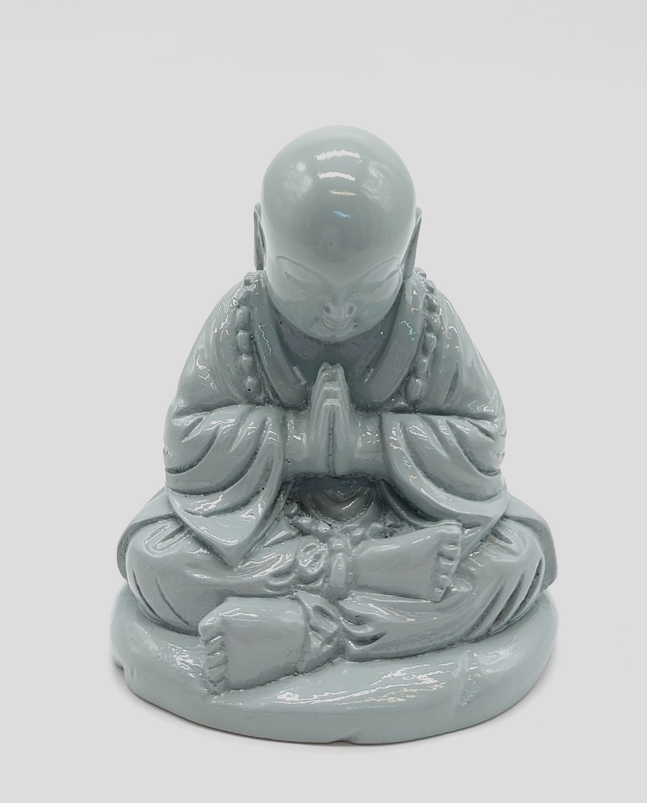 Monk Resin Height 10 cm grey