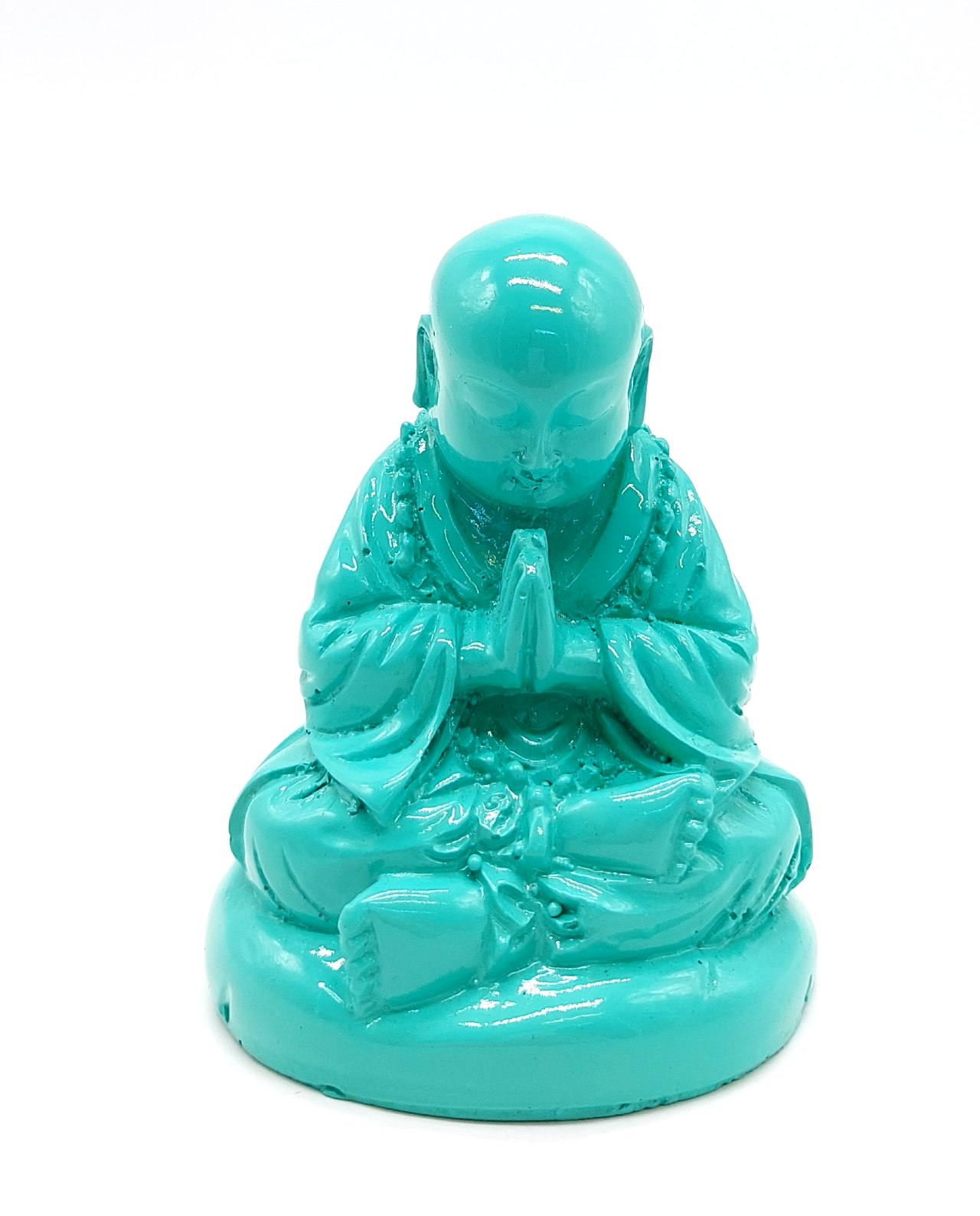 Monk Resin Height 10 cm turquoise