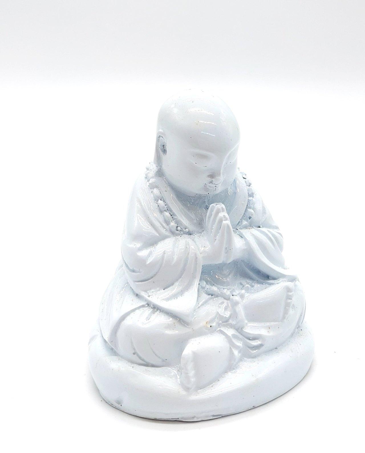 Monk Resin Height 10 cm white