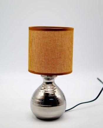 Table Lamp Moka Silver Ceramic Base