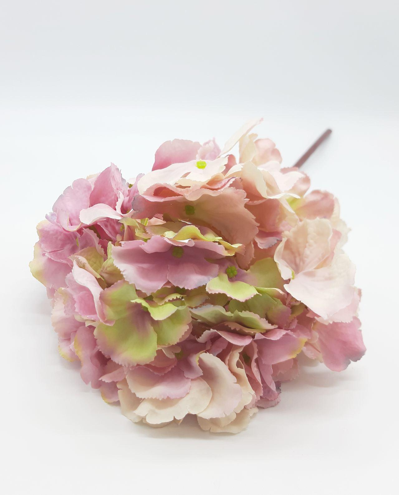 Ορτανσία ροζ υφασμάτινη ύψος 65 cm