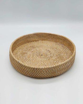 Platter Rattan White Wash Diameter 30 cm