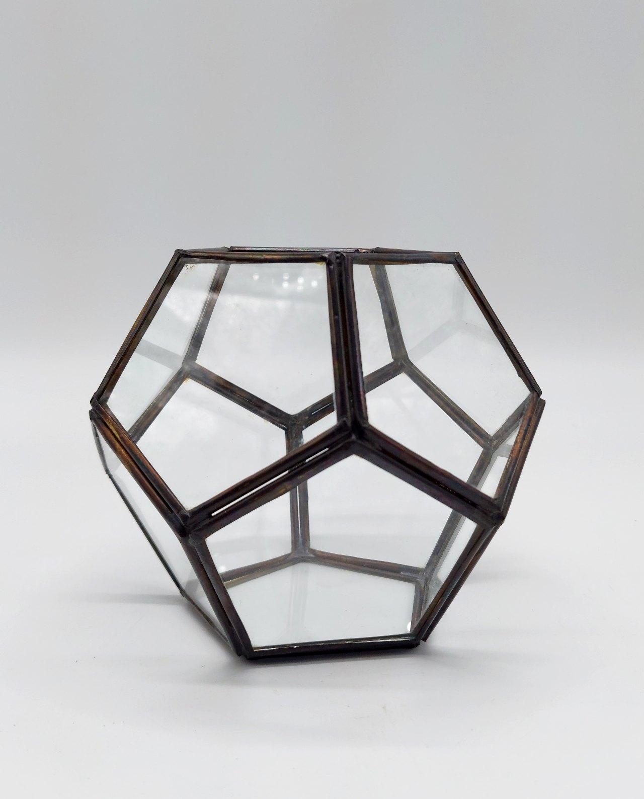 """Lantern """"Disco"""" Copper Antique Handmade Diameter 12 cm"""