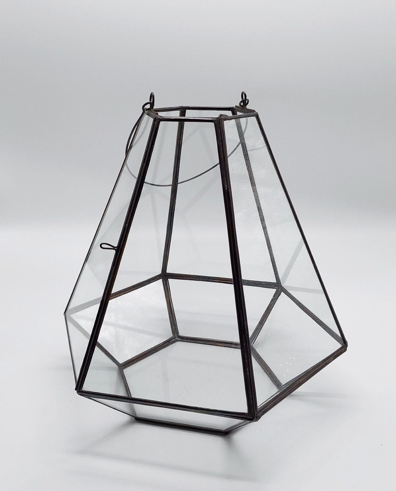 "Lantern ""Pyramid"" Antique Copper Height 27 cm"