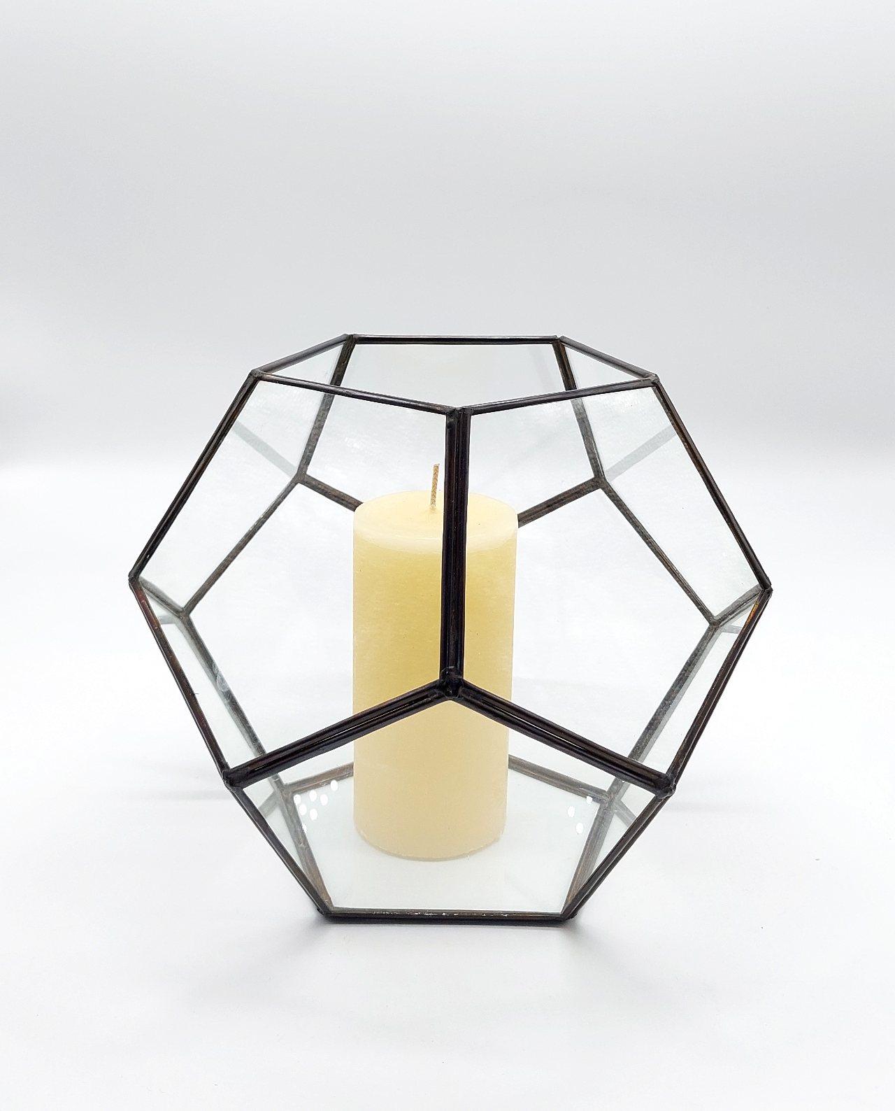 """Lantern """"Disco"""" Copper Antique Diameter 24 cm"""