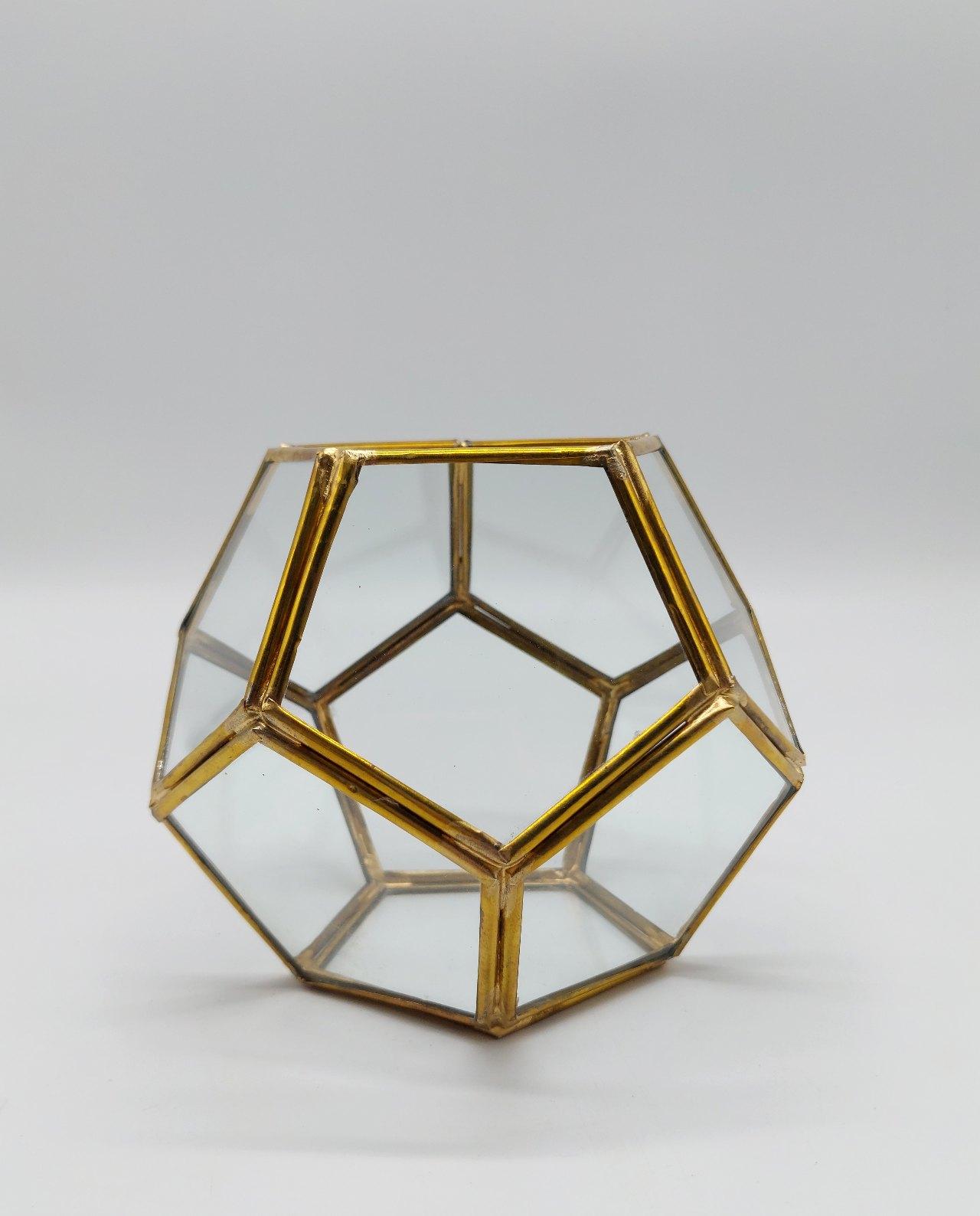 "Lantern ""Disco"" Copper Handmade Diameter 12 cm"