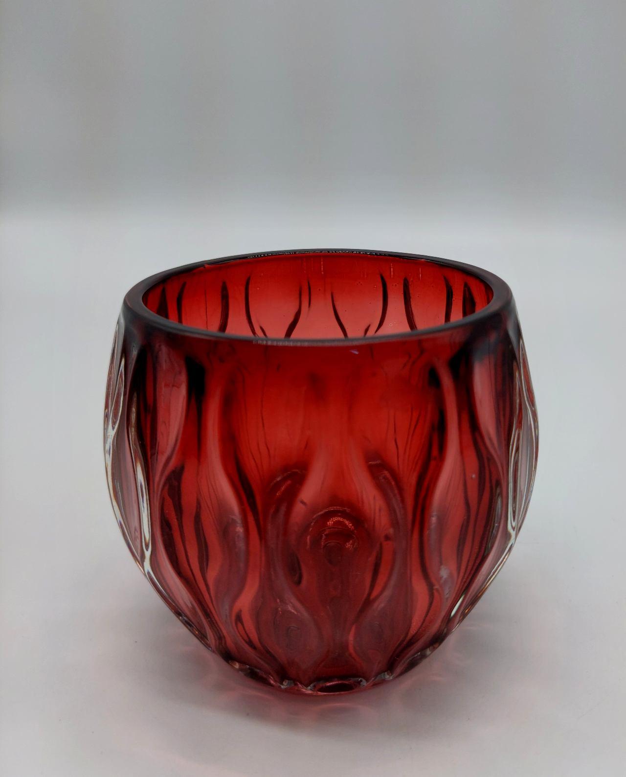 Tealight Glass Bordeaux Height 9 cm
